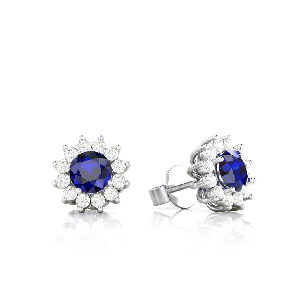 Something Blue Bridal Earrings Algo Azul Pendientes Novia