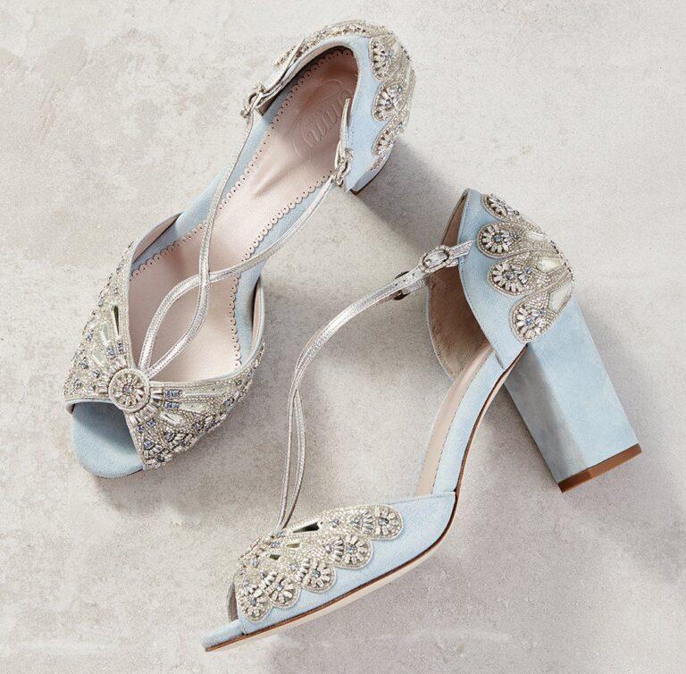 Something Blue Wedding Shoes Algo Azul Zapatos Novia