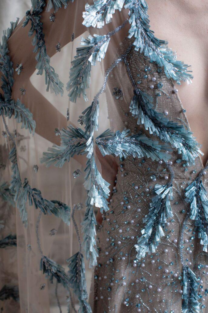 Something Blue Wedding Gown Bride Wedding Dress