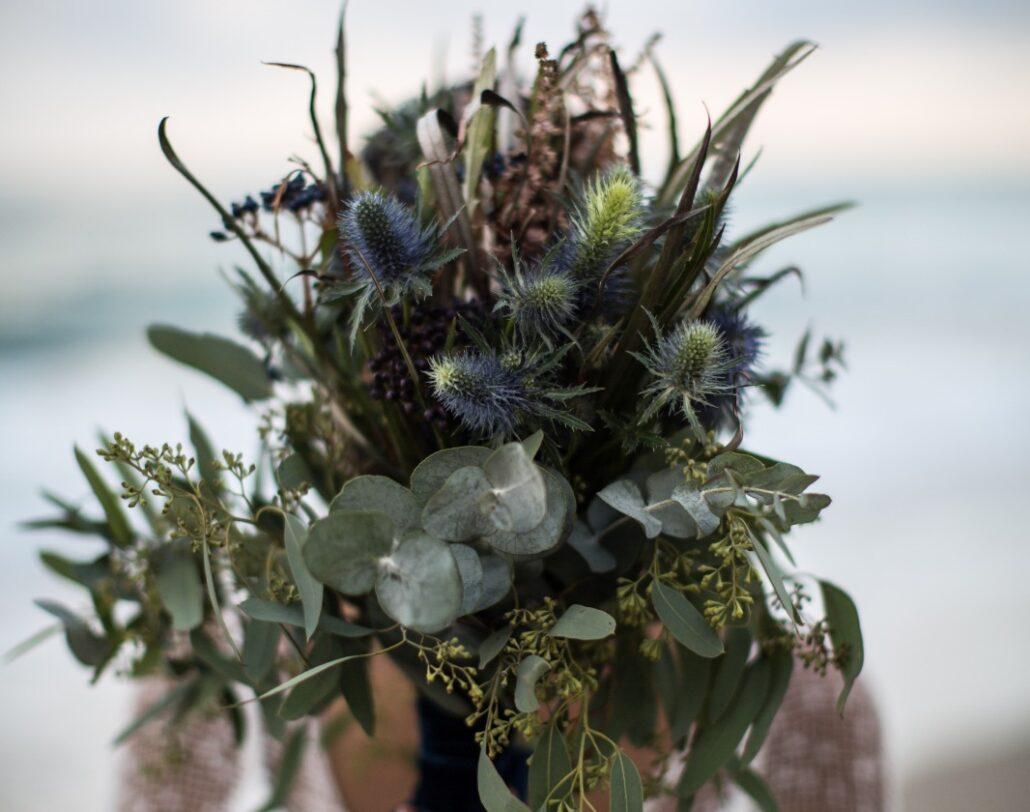 Something Blue Wedding Flowers Bridal Bouquet Ramo de Novia Algo Azul